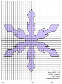 Snowflake Mystery Picture (30 x 40 - Four Quadrants)