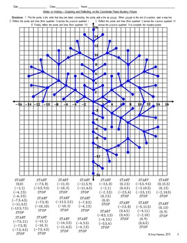 snowflake mystery picture graphing and reflecting on the coordinate plane. Black Bedroom Furniture Sets. Home Design Ideas