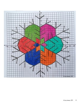 Snowflake Mystery Picture - Graphing and Reflecting on the Coordinate Plane