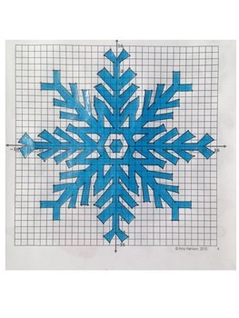 Snowflake Mystery Picture Two - Graphing and Reflecting on the Coordinate Plane