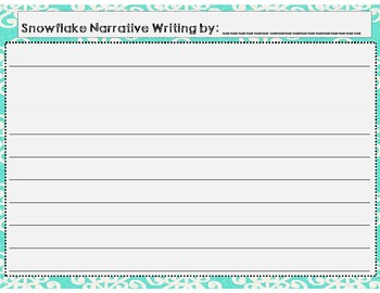 Snowflake Narrative Writing with Figurative Language