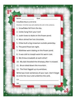 Snowflake Nouns and Verbs