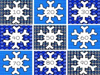 Snowflake Number Cards 1-120