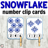Snowflake Number Clip Cards for Math Centers