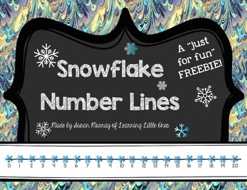 "Snowflake Number Lines (A ""Just For Fun"" FREEBIE)"