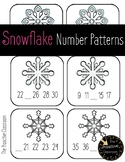 Snowflake Number Patterns Winter Game / Growing Patterns Skip Counting Activity