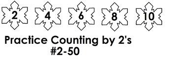 Snowflake Number Skipping for Preschool
