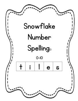 Snowflake Number Spelling Tiles