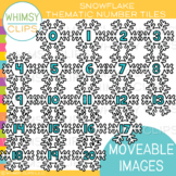 Snowflake Number Tile Clip Art {MOVEABLE IMAGES}