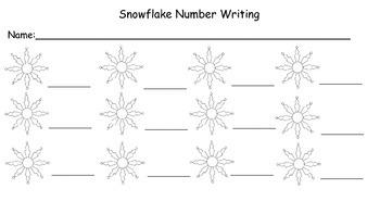 Snowflake Number Writing