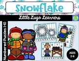 Snowflake Numbered Puzzles 1-10
