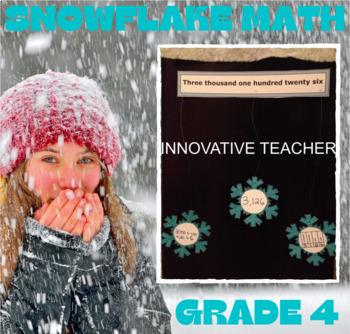 Snowflake Numbers Grade 4