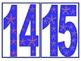 Snowflake Numbers and Symbols Set