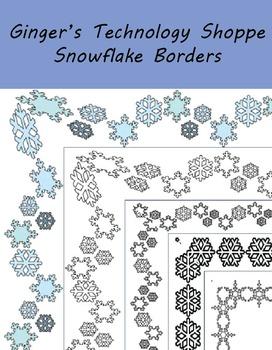 Snowflake Page / Picture Borders * Winter
