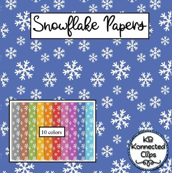 Snowflake Papers - 10 Colors - Dollar Deal!