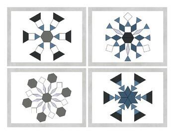 Snowflake Pattern Blocks Activity Pack