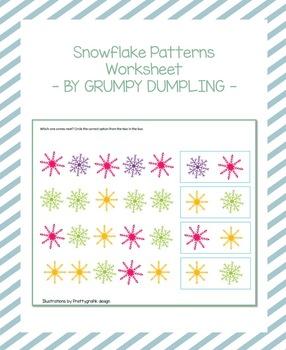 Snowflake Patterns - Worksheet
