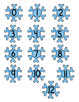 Subtraction 12 Facts: Snowflake Penguin Subtraction File Folder Game Winter
