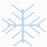 Snowflake Pixel Art (Excel)