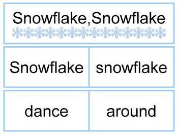 Snowflake Pocket Chart Poem