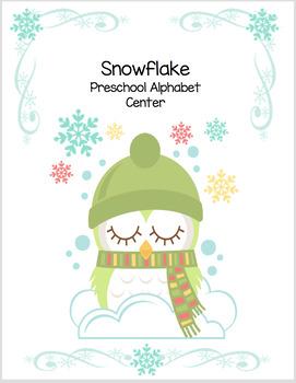 Snowflake Preschool Alphabet Center