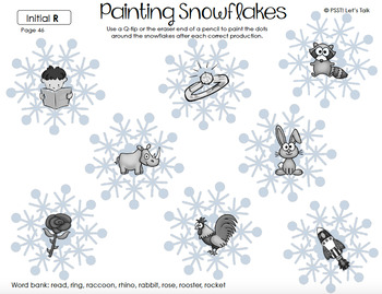 Snowflake Q-tip Painting - Articulation