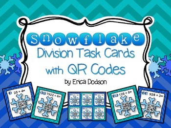 Division with Remainders QR Code Task Cards