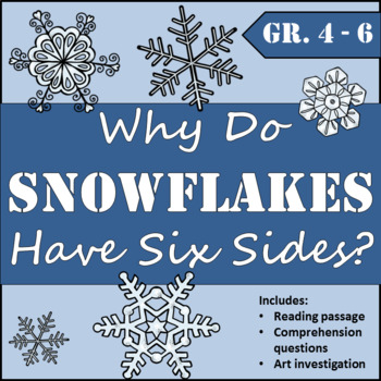 Snowflake Reading Investigation and Art Activity
