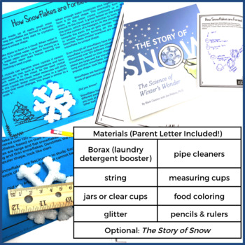 Snowflake STEM Project-Based Learning: Symmetry, Data Collection (5 Day Lesson)