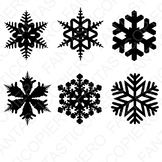 Snowflake SVG files for Silhouette Cameo and Cricut.