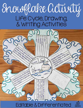 Snowflake Science Activity with Snow Life Cycle, Craft, an