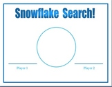 Snowflake Search Game (Greater than, less than, equal to)