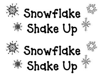 Snowflake Shake Up