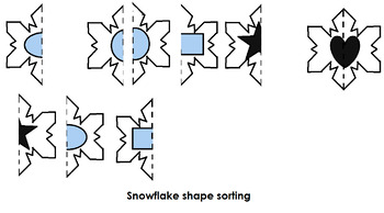 Snowflake Shape and Color Puzzles for Preschool