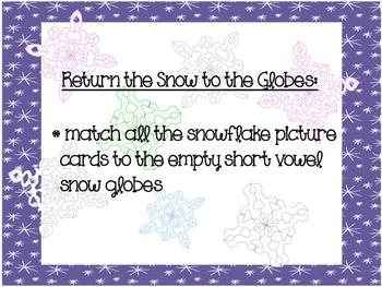 Snowflake Short Vowel Sort