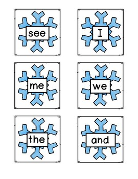 Snowflake Sight Word Game