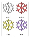 Snowflake Sight Word Search
