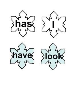 Snowflake Sight Words Freebie