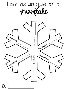 Snowflake Simile-I am as Unique as a Snowflake