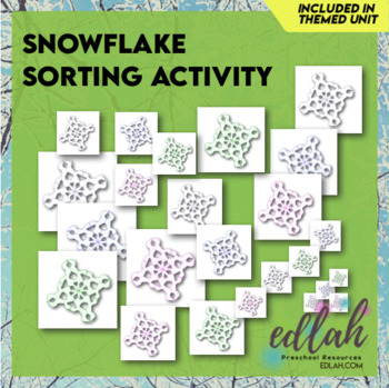 Snowflake Size Sorting Cards