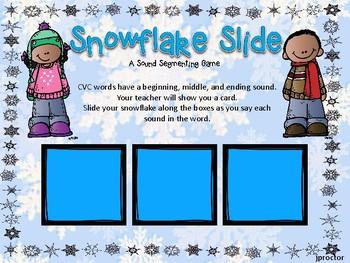 Snowflake Slide A Sound Segmenting Game