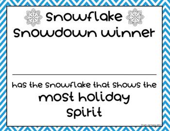 Snowflake Snowdown a student snowflake making competition