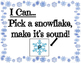 Snowflake, Snowflake Letter Sounds