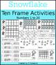 Snowflake & Snowman Ten Frame Activities (1-20)  Bundle