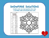 Snowflake Solutions: Solving One-Step Equation Coloring