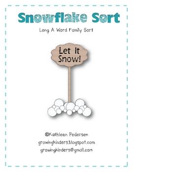 Snowflake Sort - Long A Word Family Sort