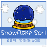 Snowflake Sort: Real Words vs. Nonsense Words