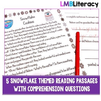Snowflake Stories: Winter Reading Passages with Comprehension Questions, Gr. 1-3