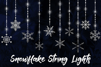 Snowflake Christmas Lights.Snowflake String Lights Hanging Snowflake Decorations Winter Fairy Lights