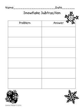 Snowflake Subtraction!! A Math Game Subtracting Teen Numbers